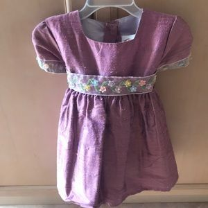 Infant Pure Raw Silk Dress with bow